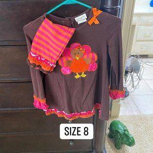 SALE Colorful Turkey  set includes leggings